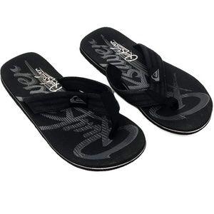 QuickSilver Black  Mens Flip Flop Sandals